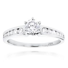 Luxurman 14k Gold 4/5ct TDW Diamond Designer Promise Ring (H-I, SI1-SI2) (14k White Gold Size 9), Women's (solid)