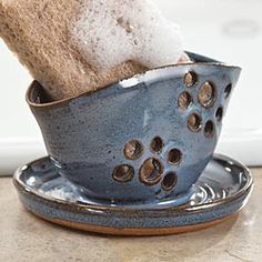 Handcrafted Sponge Holder in Holiday 2012 from Artisan Table on shop.CatalogSpree.com, my personal digital mall.