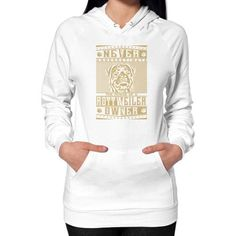Never underestimate the power of a Rott Weiler Owner Hoodie (on woman)