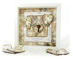 A Vintage Journey: Shabby Vintage Shadow Box Tutorial Vintage Diy, Shabby Vintage, Vintage Cards, Shabby Chic, Chalky Finish Paint, Mixed Media Cards, Bedroom Vintage, Mixed Media Artists, Tim Holtz