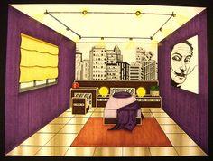 1-point perspective: Bedroom by heyluq, via Flickr