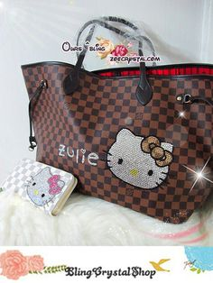 Hello kitty and Louis Vuitton! Best combination ever!