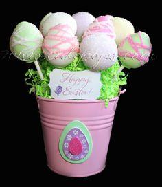 Easter Cake Pop Basket  www.cakepops.com