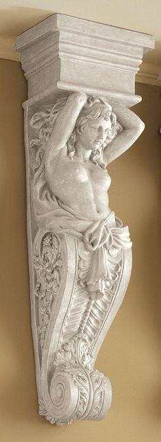 Caryatid Wall Sculpture Reproduction