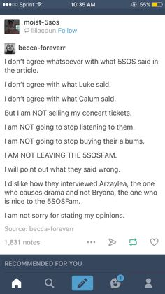 This was exactly my opinion. why did they interview Arzaylea who is rude to the whole fandom. who won't even take pictures with the fans, and Luke has to ask for permission to take pictures with fans....Bryana is nice to fans, she takes pictures, she will take pictures for fans, and she is just gorgeous!! that's my opinion and I'm not scared to state it