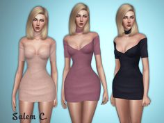 Sims 3&4 — salem-c:  Donna Dress (TS4)  15 colors  mesh by...