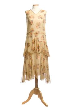 Day dress (front) | 1920s | crinkled silk chiffon | Charleston Museum