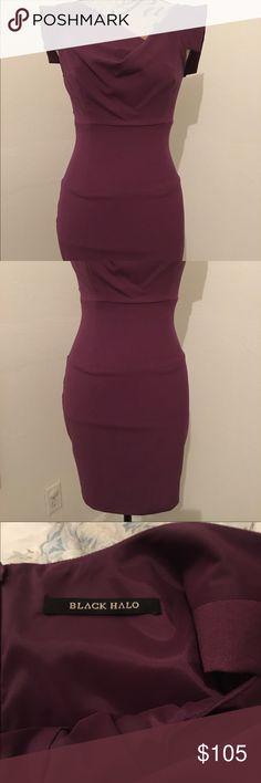 Black Halo NWOT purple - short Jackie o dress Size 2 purple Jackie O dress. Beautiful, never worn. Shorter style. True size 2. Black Halo Dresses
