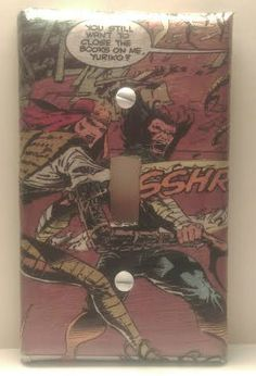 Wolverine and Lady Deathstrike Light Switch Cover, Comic Books, Marvel Comics, Uncanny X-Men, Handmade by ComicBookCreations01 on Etsy