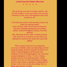 Great translation of Lokah Samastah  Sukhino Bavantu