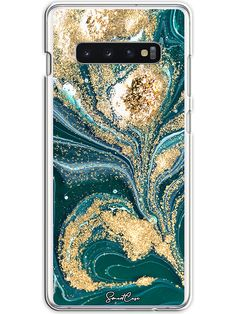 Case für Samsung Galaxy in Petrol/ Gold Blue Gold, Samsung Galaxy, Phone Cases, Products, Phone Case