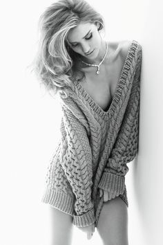 Rosie Huntington-Whiteley Photographed By Alexi Lubomirski for Vogue Germany November 2011 Top