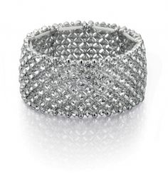 Fiorelli Silver colour and crystal elasticated wide bracelet.  £40.00  http://www.icejewellery.com/nataliewilkinson/1/