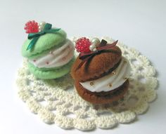 Felt Macaron Cell Phone Charm Strap Ornament by FlowercatWorkshop, $16.00