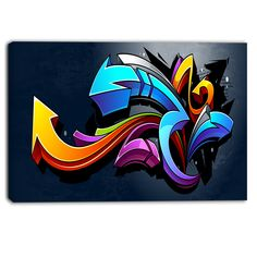 Designart - Direction Street Art - Graffiti Canvas Art Print
