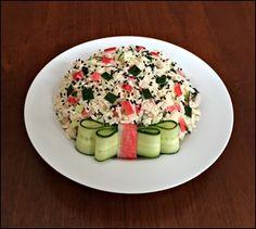 Salada de Arroz com Kanikama e Pepino