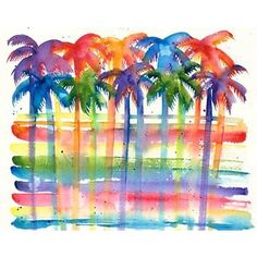 watercolor trpical pictures - Google Search