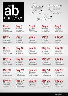 30 Day Ab Challenge - Bikini Fitness