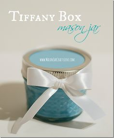 Tiffany Box Mason Jar