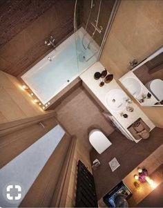 Bathroom Layout Plans, Master Bathroom Layout, Small Bathroom Colors, Bathroom Design Small, Tiny Bathrooms, Tiny House Bathroom, Bathroom Design Luxury, Modern Bathroom Decor, College Apartment Bathroom