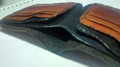 Brown and Black Bifold Wallet
