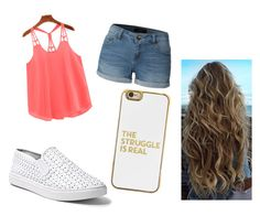 """""""Untitled #44"""" by azziahcobbfreeman on Polyvore featuring beauty, LE3NO, Steve Madden and BaubleBar"""