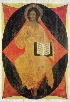 Russian Icons, Russian Art, Andrei Rublev, Christ Pantocrator, Art Criticism, Jesus Christus, Life Of Christ, Byzantine Art, A4 Poster