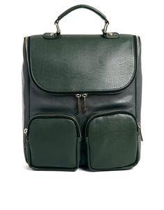cool green backpack