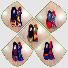 Shoes made from African print