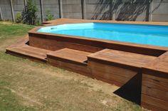 Faire un accès en bois exotique pour ma piscine