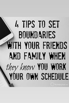 Are you having trouble with getting the people in your life to understand you are not available any hour of the day just because you work your own schedule? Check out these tips to help give you the space you need between your personal and professional life.