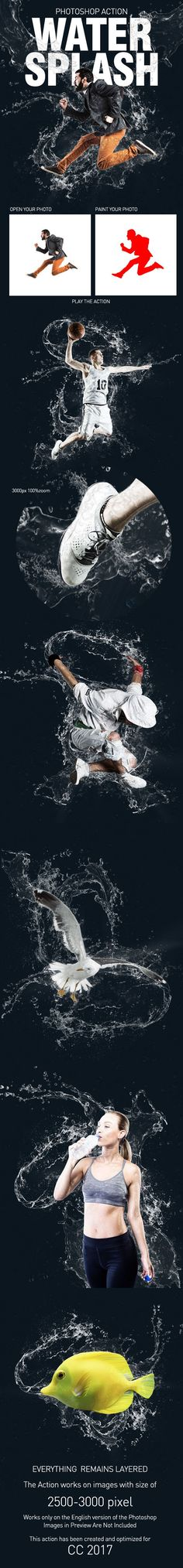 Water Splash Action - #Photo Effects #Actions
