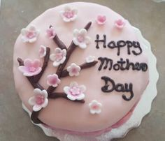 Cherry Blossom Mother's Day Cake Mothers Day Cake, Alchemy, Cherry Blossom, Baking, Desserts, Food, Tailgate Desserts, Deserts, Bakken