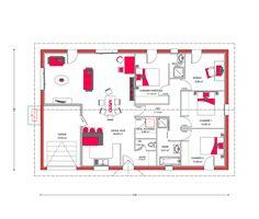 Plan De Maison Plain Pied Gratuit Chambres Architecture - Plan de maison 4 chambres gratuit