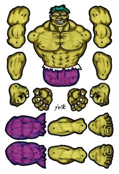 HULK jointed paper doll. by MadunTwoSwords on DeviantArt