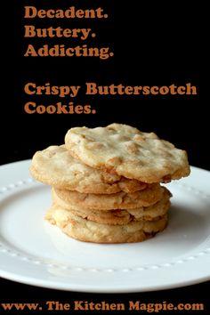 Crispy Butterscotch Cookies | The Kitchen
