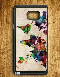 World Map Urban Watercolor Samsung Galaxy Note Edge Case