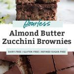 Flourless Zucchini Brownies [Paleo, Vegan] | Fit Mitten Kitchen Healthy Zucchini Brownies, Fit Mitten Kitchen, Clean Eating Sweets, Gluten Free Sweets, Paleo Vegan, Unsweetened Cocoa, Chocolate Brownies, Almond Butter, Brownie Recipes