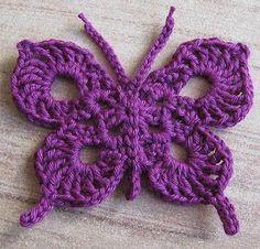 Crochet beau papillon pour la décoration
