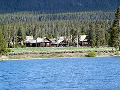 Lake Lodge ~ Yellowstone National Park. We rented a motorboat and went for a ride!