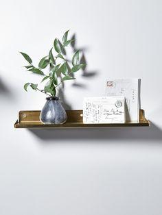 Slimline Brass Shelf (also in black)