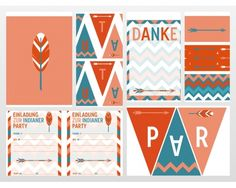 Printables Indianer Party by FossDesign for PinkFisch