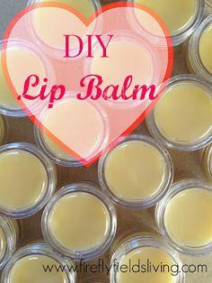 Gift Idea: DIY Lip Balm www.fireflyfieldsliving.com