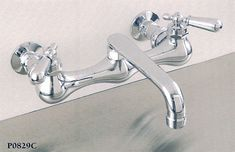 Say you like your wall mount tub faucet, but you also want to take showers in it. Attaching a shower to tub faucet usually proves challenging. Wall Mount Kitchen Faucet, Kitchen Sink Faucets, Lavatory Faucet, Kitchen And Bath, Sinks, Bath Fixtures, Polished Nickel, Solid Brass, Plumbing