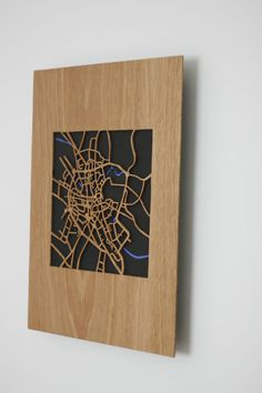 wooden map of the fine city of Norwich by WoodInArt on Etsy
