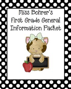 Erica Bohrer's First Grade: General Information Packet and Take-Home Bags