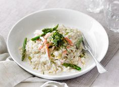 Asparagus and Crab Risotto Recipe