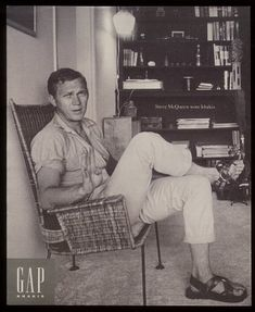 Gap ad for khakis- Steve McQueen.