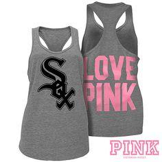 Chicago White Sox Victoria's Secret PINK® Heathered Racerback Tank - MLB.com Shop