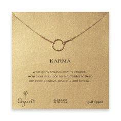 Dogeared Jewelry Karma Necklace Gold Dipped: Jewelry: Amazon.com